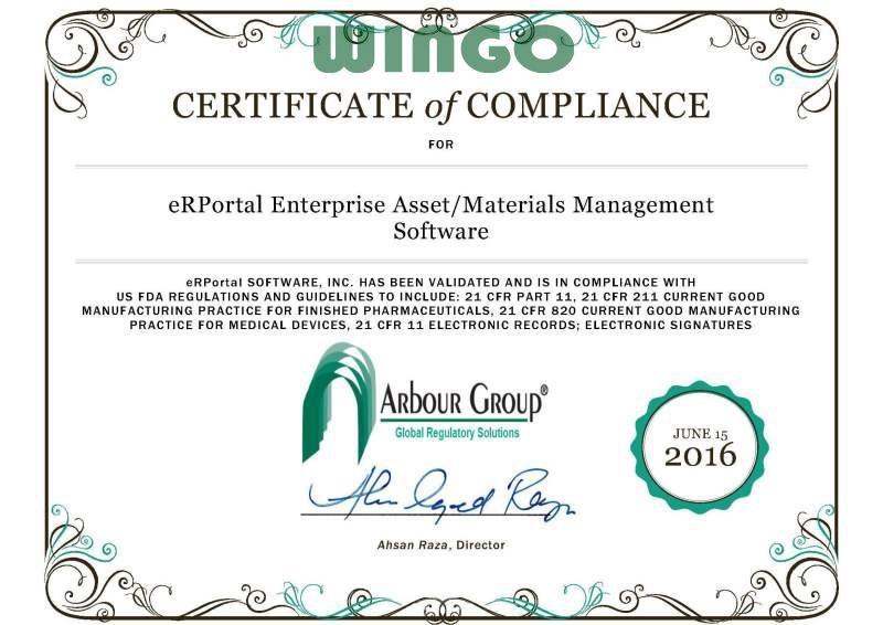Làm giấy chứng nhận FDA tại WinGo